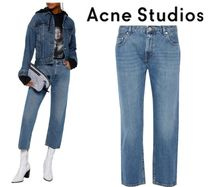 Acne Studios☆Cropped distressed mid-rise straight-leg jeans
