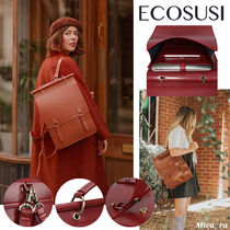 ☆ECOSUSI☆ WOMEN'S PU LEATHER BACKPACK FOR LAPTOP 14 INCHES