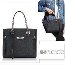 VIP SALE!【JIMMY CHOO】HELIA SHOPPER/Sサイズ☆デニム☆スター
