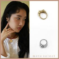 August Harmony Flower bud ring(2color)リング 金 銀 真鍮
