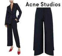 Acne Studios☆Haddie wool and mohair-blend wide-leg pants