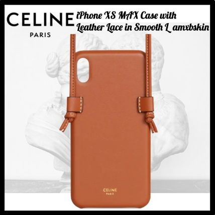 CELINE スマホケース・テックアクセサリー CELINE(セリーヌ)☆IPHONE XS MAX CASE WITH LEATHER LACE