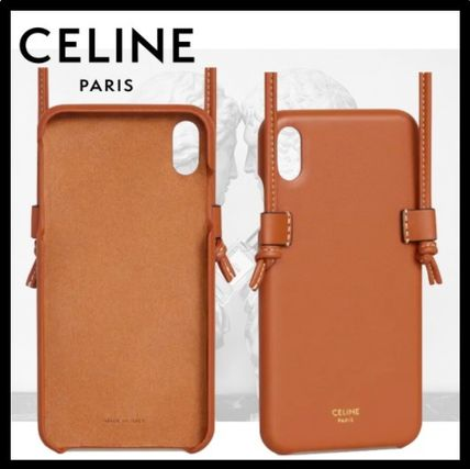 CELINE スマホケース・テックアクセサリー CELINE(セリーヌ)☆IPHONE XS MAX CASE WITH LEATHER LACE(2)