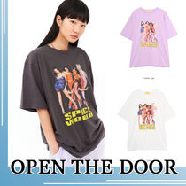 OPEN THE DOOR★unisex spice world 1/2  1/2 T-SHIRT