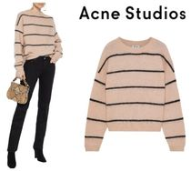 Acne Studios☆Rhira striped brushed-knitted sweater