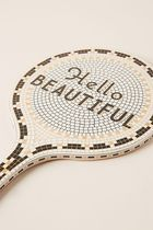 セール! Anthropologie Bistro Tile Hello Beautiful Mirror