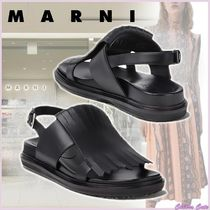 【20SS NEW】MARNI_women/FUSSBETT IN VITELLO CON FRANGIA NERO