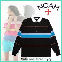 WmnsもOK◇NYカジュアル◆NOAH◆Multi-Color Striped Rugby