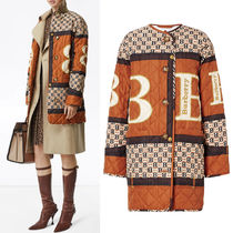 BB332 ARCHIVE SCALF PRINT QUILTED COAT