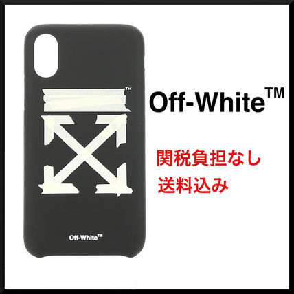 Off-White スマホケース・テックアクセサリー 【即対応☆関税送料負担なし】Off-White★Tape Arrows iPhoneXS