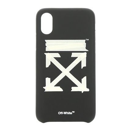 Off-White スマホケース・テックアクセサリー 【即対応☆関税送料負担なし】Off-White★Tape Arrows iPhoneXS(2)