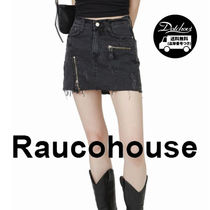 Raucohouse VINTAGE ZIPPER DENIM SKIRT JH137/追跡付