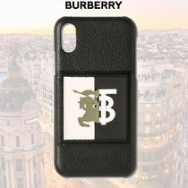 Burberry  Contrast Logo Graphic レザー iPhone X/XS ケース