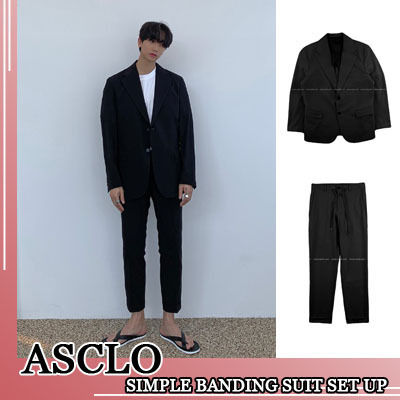 ASCLO セットアップ ASCLO★韓国の人気★SIMPLE BANDING SUIT SET UP