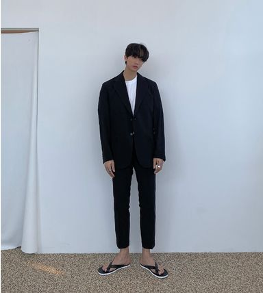 ASCLO セットアップ ASCLO★韓国の人気★SIMPLE BANDING SUIT SET UP(2)