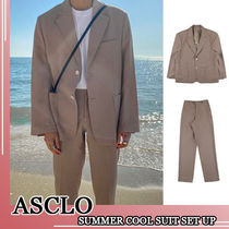 ASCLO★韓国の人気★LOOSEFIT SUMMER COOL SUIT SET UP