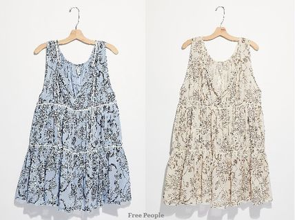 Free People ルームウェア・パジャマ 大人可愛い★Free People★フローラル柄 ティアードネグリジェ
