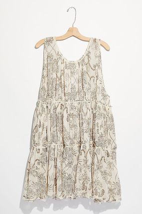 Free People ルームウェア・パジャマ 大人可愛い★Free People★フローラル柄 ティアードネグリジェ(7)
