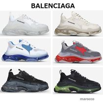 ★ BALENCIAGA ★ Triple S leather and mesh trainers
