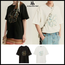 ◆ANDERSSON BELL◆ UNISEX SUMMER FLEUR EMBROIDERY T-SHIRT