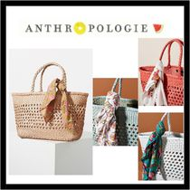 (14018)Anthropologie☆Shira Woven レザートートバッグ