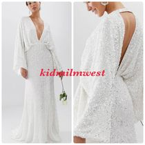 関送込 ASOS★kimono sleeve wedding dress