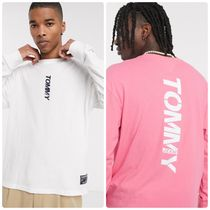Tommy Jeans vertical 長袖 ロゴ relaxed fit トップ 関送料無料