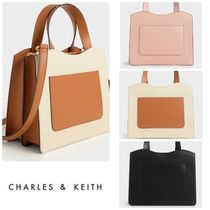 ★CHARLES&KEITH★Front Pocket Double Top Handle Bag/送料込