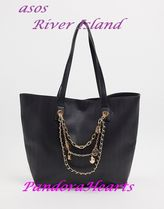 ASOS★River Island★logo chain shopper in black