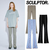[SCULPTOR] LETTUCE-EDGE SLIT LEGGINGS 3COLOR 関税込み 正規品