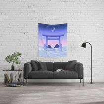 日本未入荷・送料無料 Floating World Wall Tapestry