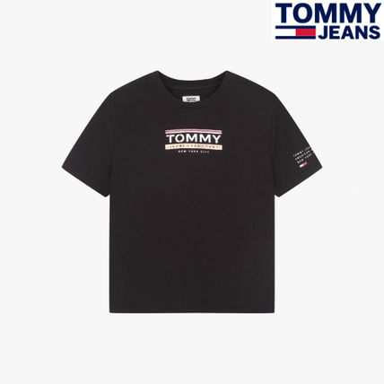 Tommy Jeans Mens Essential Split Box T-Shirt Black