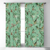 日本未入荷・送料無料 Monkey World Green Blackout Curtain