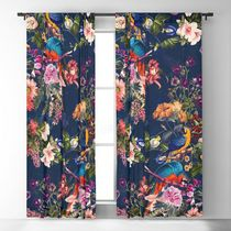 日本未入荷・送料無料 FLORAL AND BIRDS XII Blackout Curtain