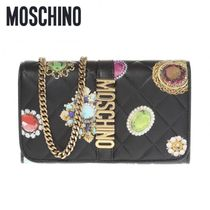 MOSCHINO- PRINTED WALLET ON CHAIN