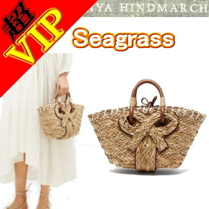 "◆◆VIP◆◆ Anya Hindmarch  ""Seagrass"" (S) Bow バスケット"