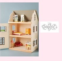 ANTHROPOLOGIE☆Wood Dollhouse Villa☆16種の家具付☆N