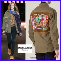 SAINT LAURENT★素敵!RUNWAY EMBROIDERED Army Military JACKET