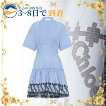 ★送料無料★セール中★Embroidered cotton poplin dress