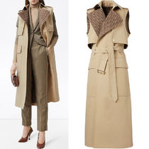 BB343 SLEEVELESS MONOGRAM-LINED COTTON TRENCH COAT