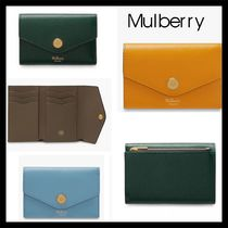 Mulberry(マルベリー) 折りたたみ財布 【Mulberry】おしゃれ Small Printed Card Wallet レザー 3色