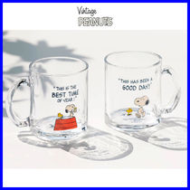 ◆PEANUTS◆ SNOOPY GLASS CUP (2色) スヌーピーカップ 透明