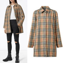 BB346 VINTAGE CHECK RECYCLED POLYESTER CAR COAT