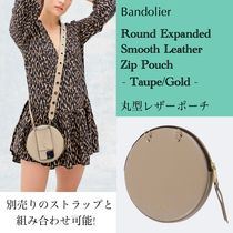 Bandolier★Round Smooth Leather Zip Pouch★丸型 レザーポーチ