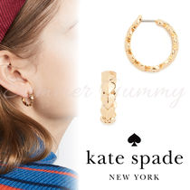 Kate Spade New York 》Metal Heart Huggies★ピアス