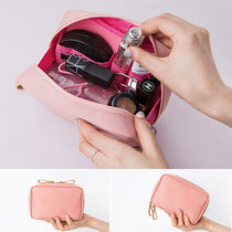 ithinkso(アイシンクソー) メイクポーチ 実用的♪ithinkso■DAY MAKEUP POUCH [PINK] メイクアップポーチ