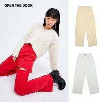 OPEN THE DOOR★20SS★cutting color jeans (3 color)