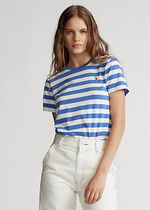 【Ralph Lauren】Striped Cotton Jersey Tee 刺繍ロゴ 525349
