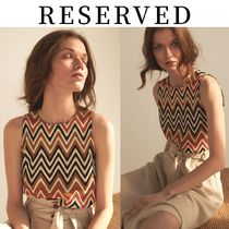 【RESERVED(リザーブド)】Ladies` Openwork jersey blouse