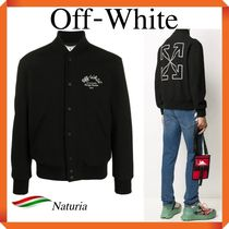 OFF WHITE Aarrow Varsity Jacket